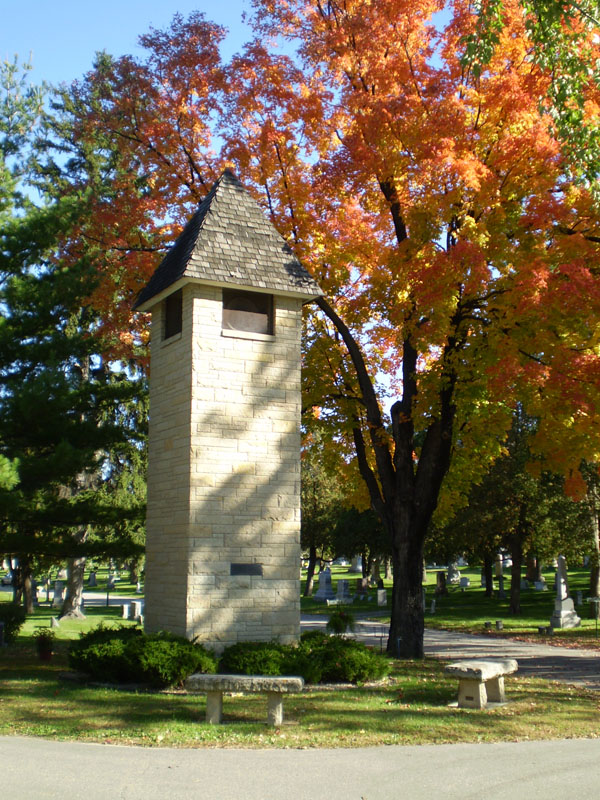 Oakwood Downtown Cemetery Bell Tower