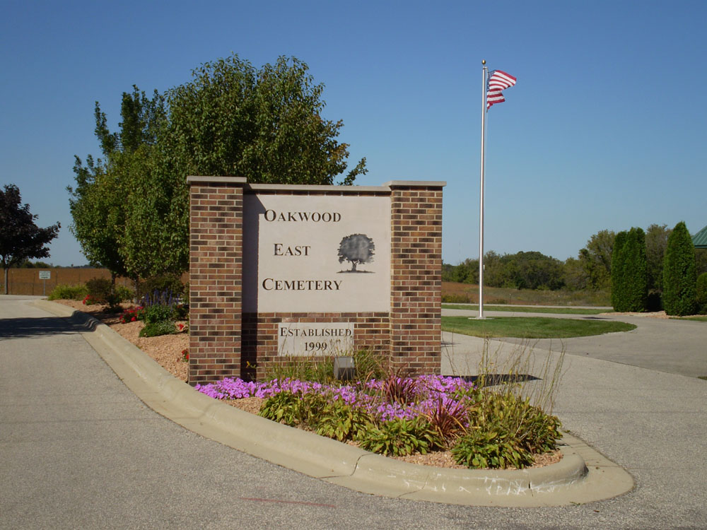 Oakwood East Cemetery Entrance